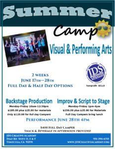 Acting Summer Camp Temecula
