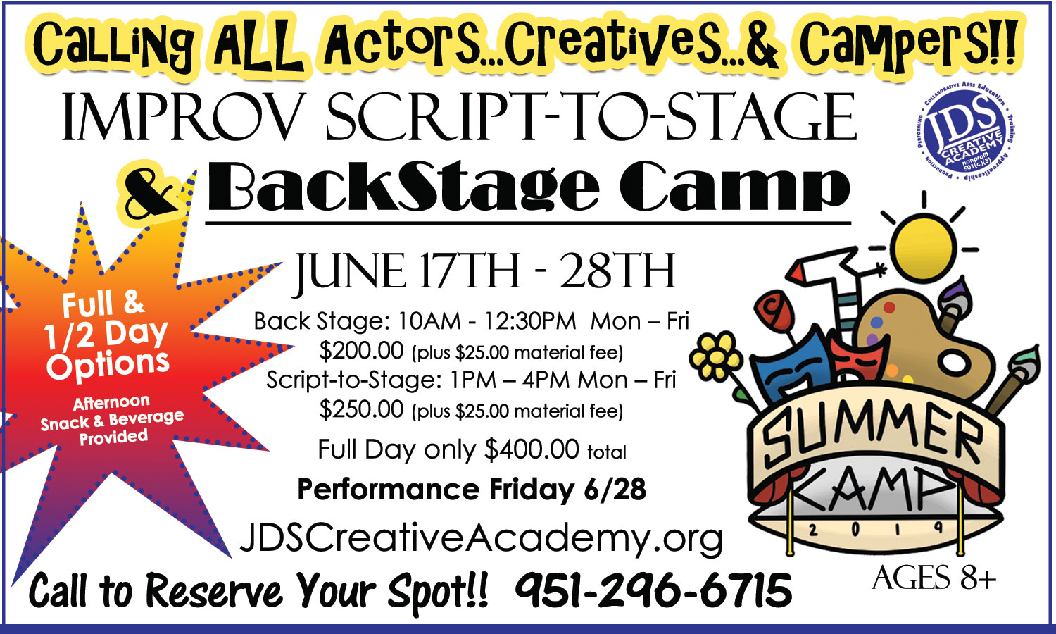 Temecula Summer Camp Acting